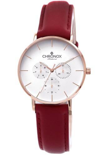 CHRONOX red CHRONOX CX1006/B7 Putih Rosegold - Jam Tangan Wanita Casual -Tali Merah Rosegold- Genuine Leather Strap 686FDAC26C05A5GS_1