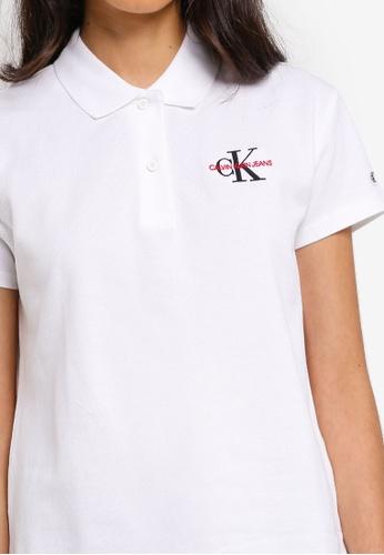 ee3e58823 Buy Calvin Klein A-Embroidery Short Sleeve Polo Shirt - Calvin Klein Jeans  Online on ZALORA Singapore