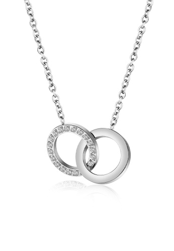 CELOVIS silver CELOVIS - Galadriel Double Hoop Interlocking Pendant Necklace in Silver B941EAC1A88AF5GS_1