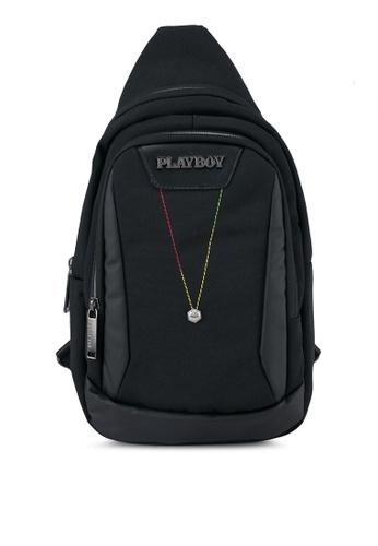 Playboy black Playboy Chest Bag PL371AC0SK22MY_1