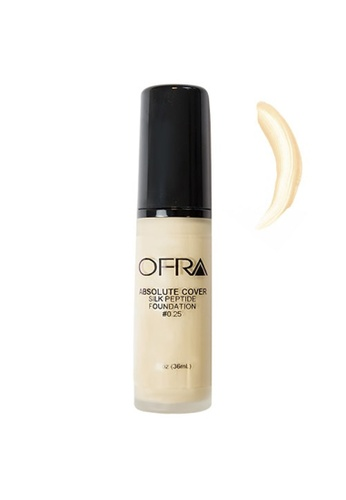 Ofra orange Absolute Cover Silk Peptide Foundation in Shade 0.25 A676ABE2F4F7CDGS_1
