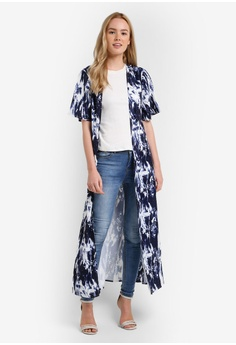 Something Borrowed navy Longline Kimono Cardigan 65A30AAEBA2102GS_1