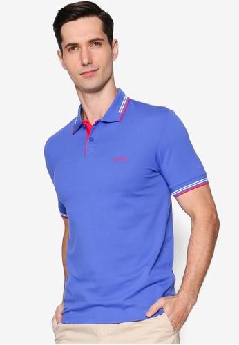 BOSS blue Paul Slim Polo Shirt 3FC3AAAA9AD13FGS_1