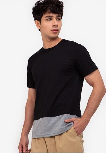 ZALORA BASICS multi Layered Colour Block T-Shirt 2618AAA0011708GS_1