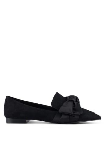 Mango black Satin Bow Shoes D1CC4SH07EE06BGS_1