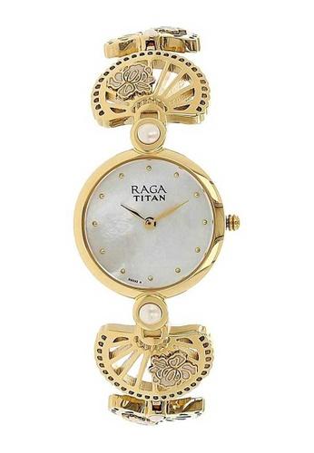 Titan Raga Gold Stainless Steel Watch