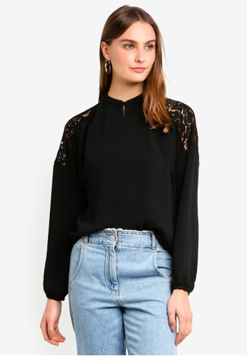 Vero Moda black Paula Long Sleeve Top 89143AA132594AGS_1