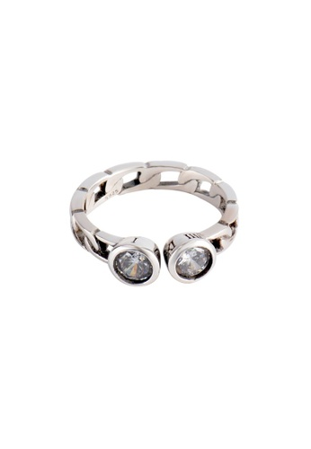 A-Excellence silver Premium S925 Sliver Braided Ring 9F482AC55733E3GS_1