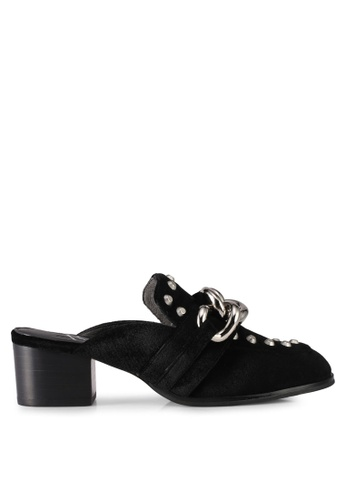 House of Avenues black Velvet Mules 09808SH548CF10GS_1