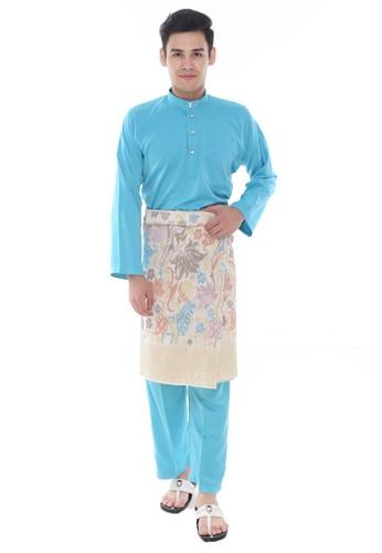 Amar Amran blue Baju Melayu Classic 0BD6CAA7D08A1FGS_1