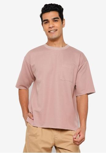 RAGEBLUE pink Knit T-Shirt 86803AA1FEDC30GS_1