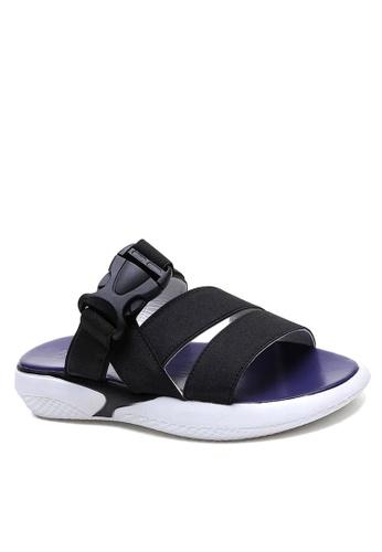 Twenty Eight Shoes 黑色 彈力織帶獨特鞋底拖鞋 VS1848F 0CAEDSHBEDF10FGS_1