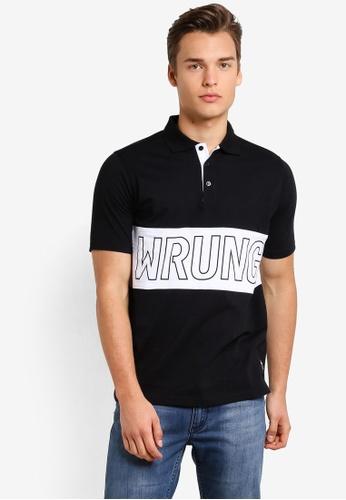 Wrung black Sports Polo Shirt WR395AA74MQBMY_1