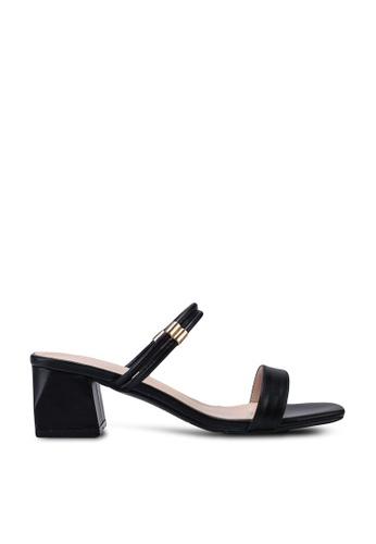 Kimmijim 黑色 Kaylin Open Toe Block Heels 641F2SH335561AGS_1