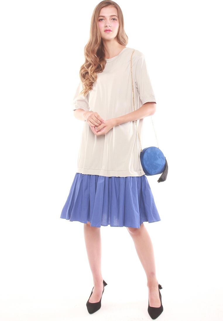 Color Dress Block Block Dress Grey Grey Color JOVET JOVET Color Block 1xxt5r