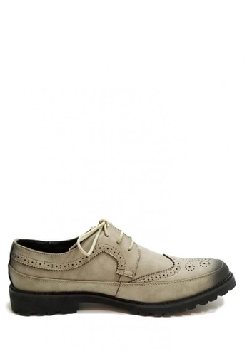 Kings Collection grey Cromwell Leather Shoes A2078SHEA5572DGS_1