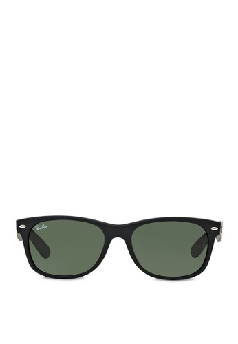 Ray-Ban black New Wayfarer  RB2132 Sunglasses RA370GL11RXOSG_1