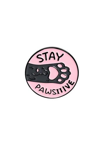 Kings Collection pink Cartoon Cat Paw Enamel Pins (KCPN1048) 4E5CDAC0A72FD1GS_1