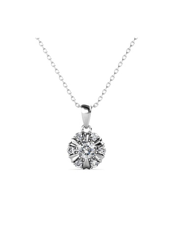 Her Jewellery silver Sun Petal Pendant (White Gold) -  Made with premium grade crystals from Austria 13644ACFEA3229GS_1