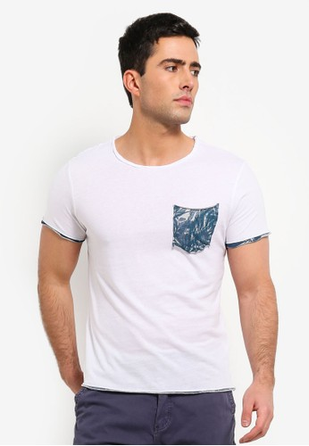 OVS white Trend T Shirt With Aop Contrast BD518AA6730132GS_1