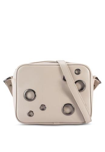 Something Borrowed beige Eyelet Embellished Sling Bag A6E10ACEB096F7GS_1
