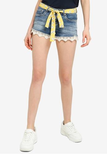 SUPERDRY blue Lace Hot Shorts C73DBAA01E88F2GS_1
