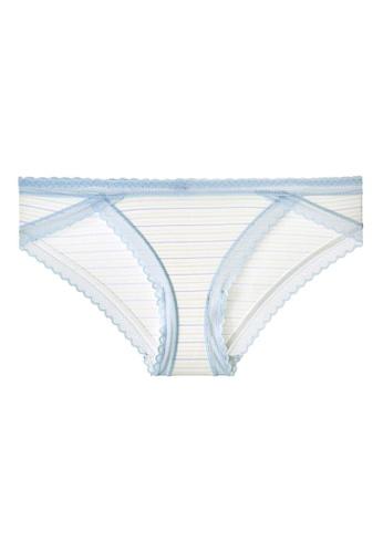 6IXTY8IGHT beige FLIPS AOP, Modal Stripe Hipster Panty PT10464 5CEC4USECDB163GS_1