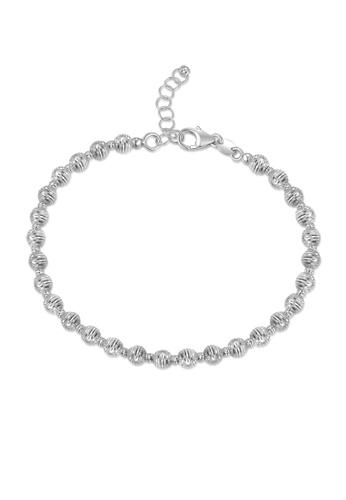 MaBelle silver 14K/585 White Gold Ball Shaped Bracelet 688F5AC6FD740BGS_1