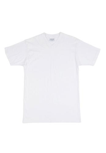 HOM white Hilary T-Shirt V Neck 5804FUS0ACCBA0GS_1