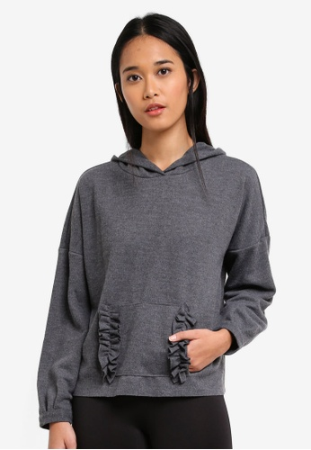 ONLY grey ONLY ONE Gia Hood Pullover E9511AAF52AF3DGS_1