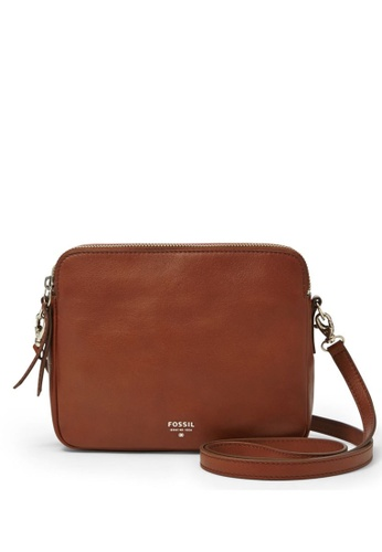 Fossil brown Fossil Sydney Brown Leather Sling Bag ZB5951200 FO164AC0SARIMY_1