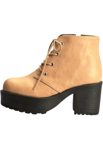 paperplanes Paperplanes-1704 Fashion Lace-Up High Top Cuban Heel Boots Shoes US Women Size PA110SH35DYYHK_1