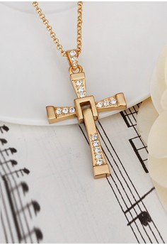 Vin Diesel Elegant Cross Gold Plated Necklace