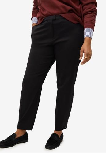Violeta by MANGO black Plus Size Suit Slim-Fit Trousers 68424AA75EA956GS_1