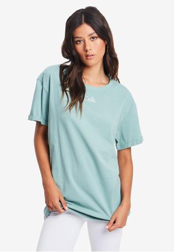 Calli green Oversized T-Shirt CF445AA03F4D5DGS_1