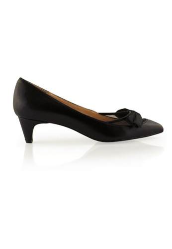 Gripz black Nap Pointed Toe Mesh Low Heels GR357SH0GC4JSG_1