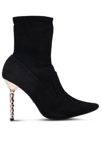 Dune London 黑色 麂皮尖頭踝靴 33FFESH927D3BEGS_1
