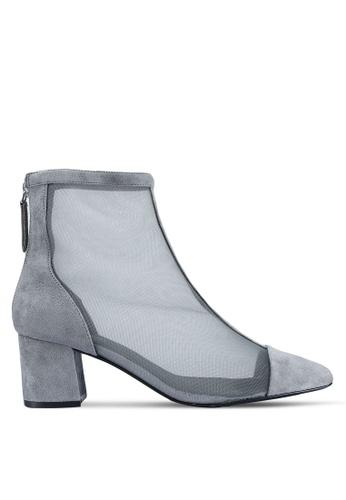 TOPSHOP grey Briony Mesh Boots B1DF9SH3B175BDGS_1