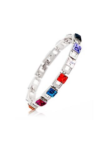 OUXI silver OUXI Red Dust Bracelet (Platinum) OU821AC24TNJMY_1