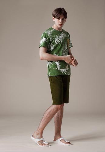 Life8 green Full Print Crew Neck T-Shirt In Bamboo Cotton-03871-Green LI283AA0FUA5SG_1