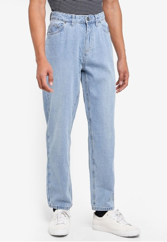Factorie 藍色 Straight Leg Denim Jeans C4D51AADE88559GS_1
