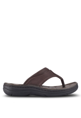 Bata brown Bata Casual Sandals 7397BSH9FE99F4GS_1