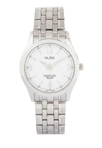 Alba silver ALBA Jam Tangan Pria - Silver White - Stainless Steel - ARSY21 AL383AC0UN42ID_1