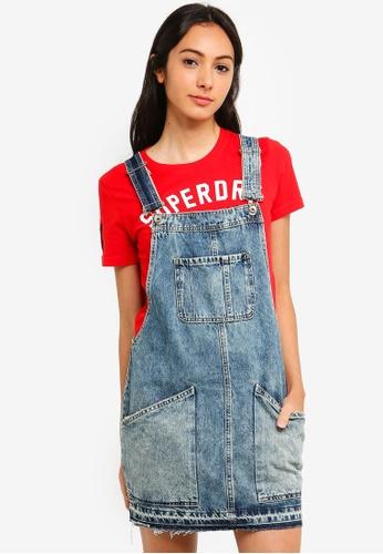 b636d00ea3 Buy Superdry Denim Dungaree Dress Online on ZALORA Singapore