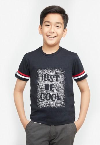 Woffi black Kaos Anak Just be Cool T-Shirt Woffi A9D41KAF37761EGS_1