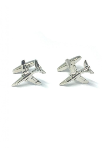 Splice Cufflinks silver Silver Fighter Jet Cufflinks   SP744AC85DSKSG_1