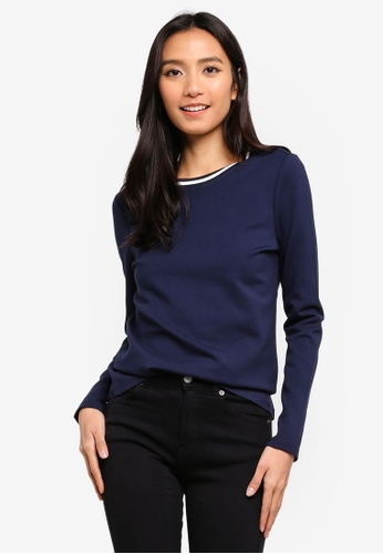 ESPRIT navy Long Sleeve T-Shirt 39F9EAA81A53E1GS_1