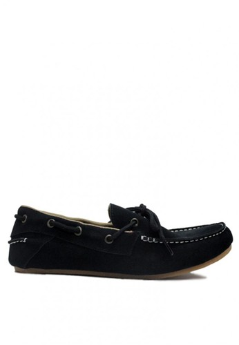 D-Island black D-Island Shoes Slip On Moccasin Genuine Leather  Hitam DI594SH73LWWID_1