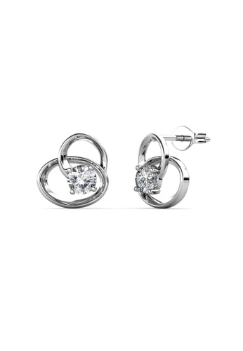 Her Jewellery white Her Jewellery Harmony Earrings (18K WG Plated) Embellished W/Crystal from Swarovski E3ED5AC8BB7222GS_1