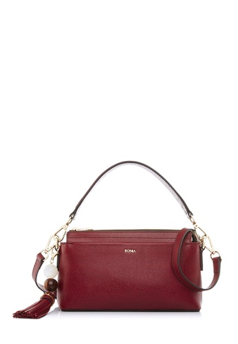 BONIA red Maroon Betsy Crossbody Bag 3A40AAC789A0A2GS_1